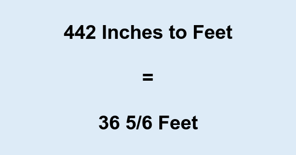 442 Inches to Feet