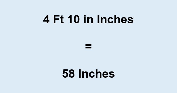 4 Ft 10 in Inches