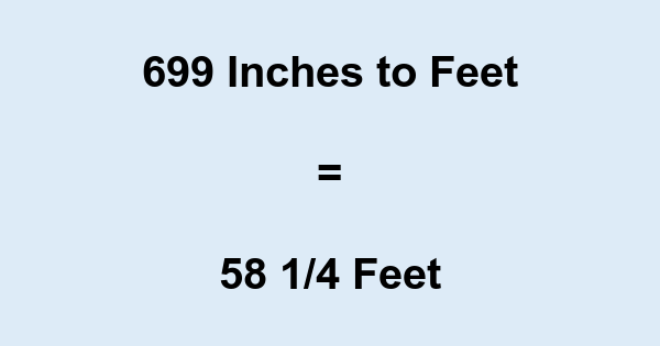 699 Inches to Feet