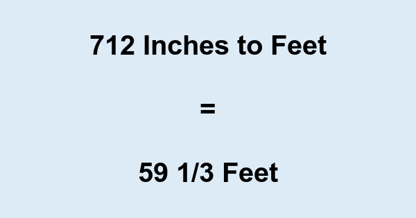 712 Inches to Feet