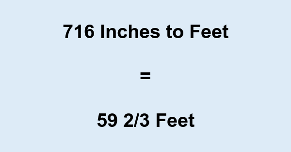 716 Inches to Feet