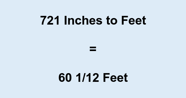 721 Inches to Feet