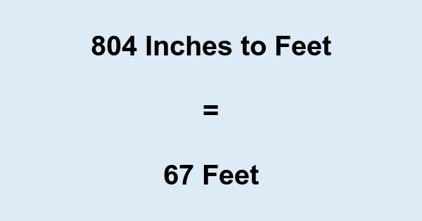 804 Inches to Feet