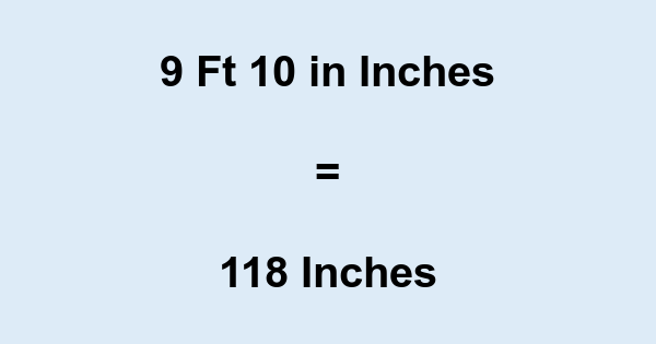 9 Feet 10 Inches In